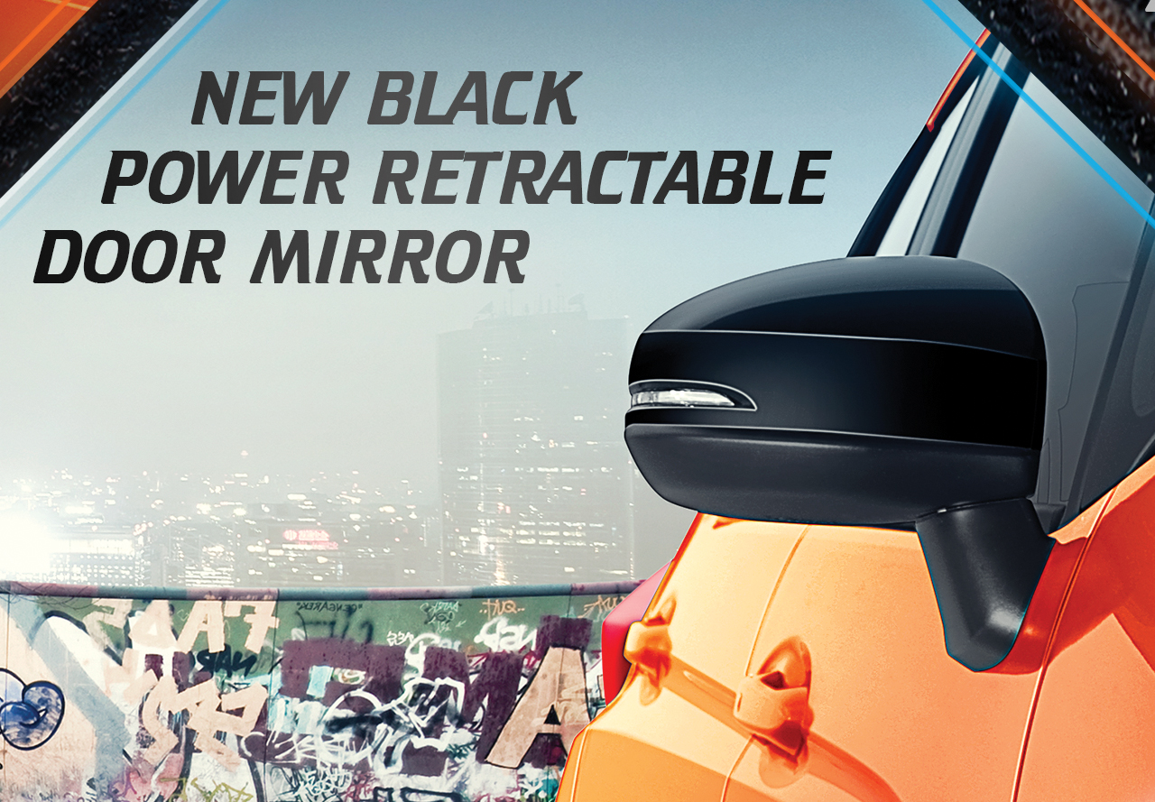New-Black-Power-Retractable-Door-Mirror
